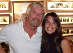 Richard Branson and Maria Ana Bobone