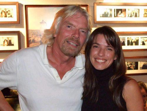 Richard Branson and Maria Ana Bobone